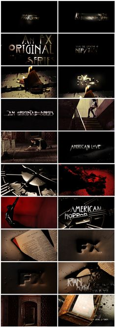 motion graphics/ storyboards/ styleframes | American Horror Story Opening by Nathan Ieljames