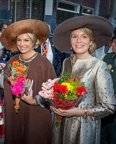(L-R) Queen Mathilde and King Philippe of Belgium and King Willem-Alexander and Queen Maxima of The Netherlands attend the signing of the ...