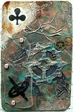 """SanDee & amelie's Steampunk Challenges: May Steampunk Challenge - """"Altered Playing Cards"""""""
