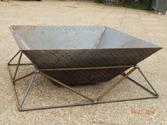 Fire Pit  Stylish Steel Fireplace for Back Yard by deBurghSteel, $850.00