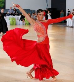 8a17710ea465 Classified Ads: Costumes: Stunning Red and Orange American Smooth Dress  Latin Ballroom Dresses,