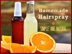 Homemade Natural Hairspray: Simply Beautiful