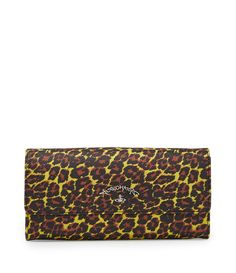 VIVIENNE WESTWOOD ANGLOMANIA LEOPARD LONG WALLET 390045 YELLOW. #viviennewestwood #