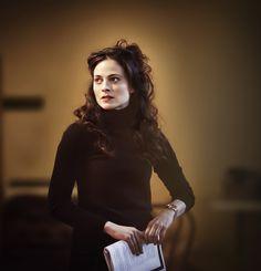 "marlenichen:  Lara Pulver at a rehearsal of Chekhov's ""Uncle Vanya"", 2012."