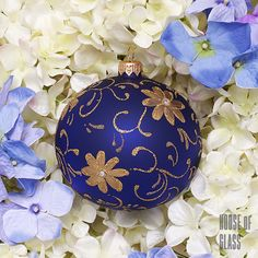 hand painted bauble with flowers