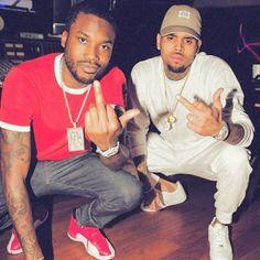 Meek Mill and Chris Brown