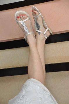 Calvin Klein Ivory Wedding Flat Sandals Wedding Shoes 60% Off   Tradesy Weddings