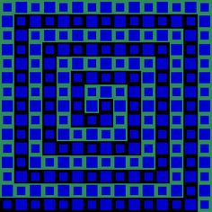 This is an example of rhythm in design because the squares are in a pattern of small and large which creates a rhythm.