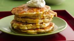 Apple Crisp Pancakes #breakfast