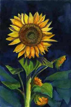 Sunflower Painting by Jane Ricker - Sunflower Fine Art Prints and Posters for Sale