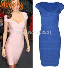 >>>Are you looking forwomen's short sleeve celebrity bandage dress cocktail party homecoming drop shipping HL1438-in Dresses from Women's Clothing