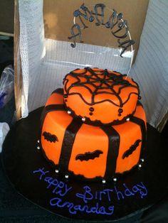 "9"" Double Layer, 6"" on top - Halloween Birthday Cake"