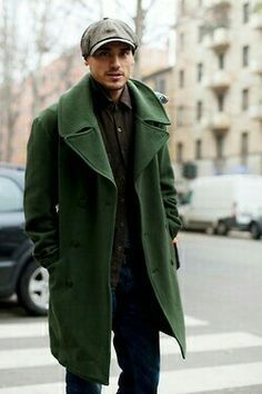 Gorgeous green coat!