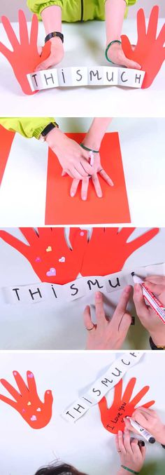 Love you this much Card | Handmade Mothers Day Cards from Kids