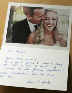 Carton remerciement mariage à télécharger et imprimer