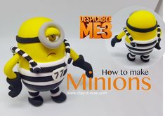How to Make Minions from Despicable Me3-minions with prison jumper in easy way - Clayitnow