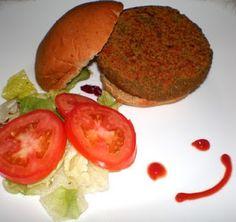Recetas Sencillas: Hamburguesas Vegetarianas Salmon Burgers, Cantaloupe, Fruit, Ethnic Recipes, Food, Veggie Burgers, Veggie Food, Healthy Recipes, Soda