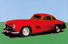 "The Mercedes-Benz 300 SL ""Gullwing"" debuted in New York in 1954, Andy Warhol"