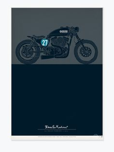 THE BALD TERRIER V-TWIN The Deus Screenprinted Poster Collection. Limited Edition original Deus Ex Machina poster artwork screenprinted on photograde proofing paper. Handsigned and numbered by Deus Ex Machina Creative Director, Carby Tuckwell