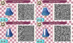 Bless My Stars Dress ♥ Animal Crossing New Leaf Qr Code