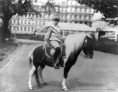 Frances Benjamin Johnston, Archie Roosevelt with his pony, Algonquin on the White House Lawn, Washington, DC, 17 June 1902.