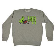 123t USA T-Rex Can't DJ Funny Sweatshirt