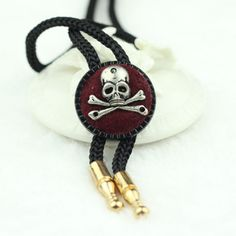>> Click to Buy << Hot Sales Red Skull Bolo Tie Pirate Style Collar Retro Stereo Ghost Head Tie The Rope Handmade Cowboy Western Bolo Bow Tie   #Affiliate