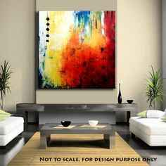 "Große abstrakte Malerei rot ORIGINAL enorme 48 ""x 48"" Xxl abstrakte Malerei Original Painting on Canvas Contemporary Painting Wall Art"