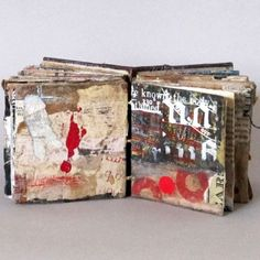 As the Night Comes On by Linda Welch - sketchbook, collage journal Artist Journal, Art Journal Pages, Art Journals, Visual Journals, Handmade Journals, Handmade Books, Handmade Wooden, Paper Book, Paper Art