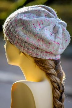 A simple slouchy knit beanie with a bit of detail to make it pop will never go out of style.