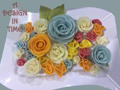 Molded Roses - Colorful Roses hand made from modeling chocolate by Master Martini Centramerica Color Compounds. Chocolate Roses, Chocolate Art, Cake Art, Art Cakes, Gourmet Cakes, Edible Creations, Colorful Roses, Modeling Chocolate, Chocolate Decorations