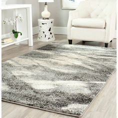 Shop for Safavieh Retro Modern Abstract Grey/Ivory Rug (6' x 9'). Get free shipping at Overstock.com - Your Online Home Decor Outlet Store! Get 5% in rewards with Club O!