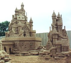 Sand Sculptures by Team Sandtastic...THAT'S a sandcastle!