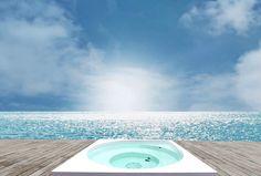 Drop-allas Outdoor Spa, Outdoor Living, Home Spa, Drops Design, Swimming Pools, Villa, Clouds, Spas, Building
