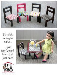 No-Sew Side Chair PVC Pattern