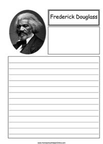 Frederick Douglass was an African-American abolitionist. You can write about his work and writings in this free printable notebooking page. World History Teaching, World History Lessons, History Quotes, History Lesson Plans, Frederick Douglass, Teacher Blogs, Native American History, Middle School, Writings