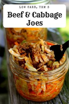 Beef and Cabbage Joes (Low Carb, THM S) is a great dinner on the go! paleo lunch on the go Keto Foods, Keto Snacks, Low Carb Lunch, Low Carb Keto, Jambalaya, Keto Cabbage Recipe, Summer Cabbage Recipe, Shredded Cabbage Recipes, Low Carb Recipes