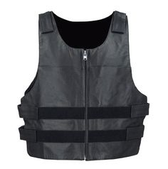 Motorcycle Bulletproof Style Vest - Very popular with sports bike clubs, social clubs and auto clubs. The Velcro straps make the vest extremely adjustable to wear with or without a jacket underneath