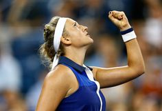 Victoria Azarenka Photos: US Open Tennis: Day 8. Victoria Azarenka of Belarus celebrates winning a point against Aleksandra Krunic of Serbia on Day Eight of the 2014 US Open at the USTA Billie Jean King National Tennis Center on September 1, 2014 in the Flushing neighborhood of the Queens borough of New York City.