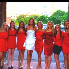 Bachelorette party idea...everyone wear a certain color dress and I wear white