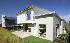Split level, brick and weatherboard clad home