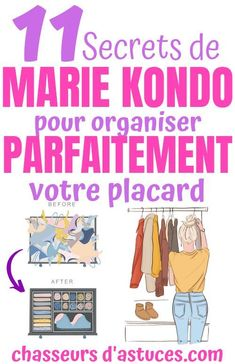 In this article, we will detail how to organize your clothes and unclutter your closet. My Mets, Marie Kondo, Laundry Detergent, My Room, Clean House, Organiser, Diy Projects, Organization, Books