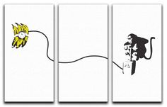 Banksy Monkey Banana Bomb Split-Panel Canvas Print – Canvas Art Rocks