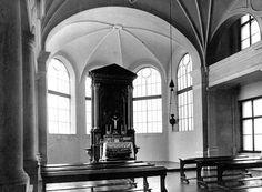 Kaple v původní podobě před úpravami z období totality