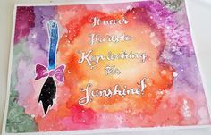 It Never Hurts to Keep Looking For Sunshine - Eeyore Inspired Hand Painted Watercolor by Violet Knight Designs.