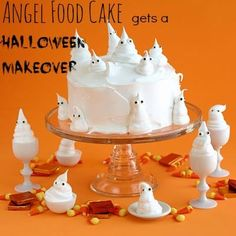 Angel #FoodCake gets a #Halloween Makeover! RT and tweet us your fav halloween #food !