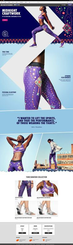 Nike: Tights of the Moment on Web Design Served Website Layout, Web Layout, Layout Design, Website Themes, Banner Design, Site Web Design, App Design, Design Nike, Sport Design