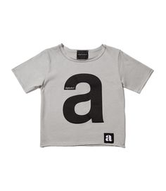 """a"" letter gray t-shirt Lettering, T Shirts For Women, Gray, Mens Tops, Drawing Letters, Texting, Grey"