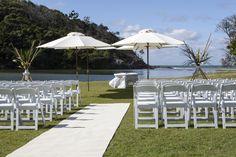Lagoon Wedding Ceremony at Opal Cove Resort