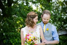 Colorful Barn Wedding Featured On Midwest Bride Photos By Amy Ann Photography